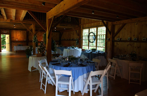 Wedding Reception in The Munger Barn upper level